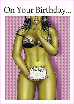 sexy birthday  female » lavenderpop, Birthday card