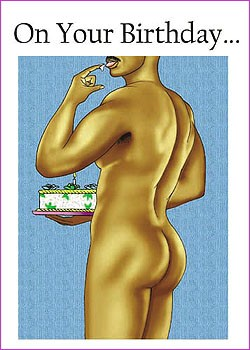sexy birthday  male » lavenderpop, Birthday card